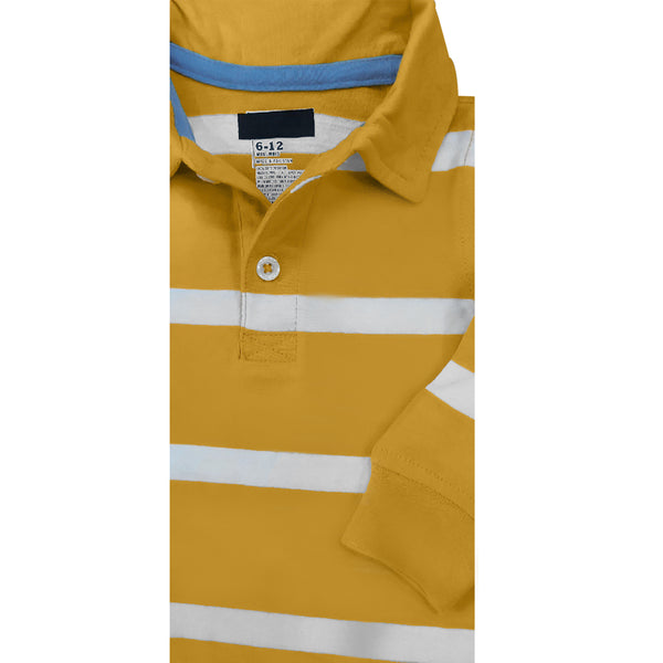 BOY'S YELLOW STRIPE POLO | OLD NAVY-(6M-5Y)