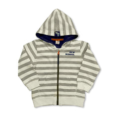 BOY'S STRIPE NEW SCHOOL HOOD | ZARA-(3M-24M)