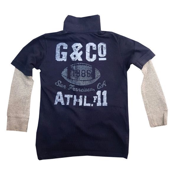 BOY'S G&CO HANGDOWN  POLO|GP-NAVY-(4Y-16Y)