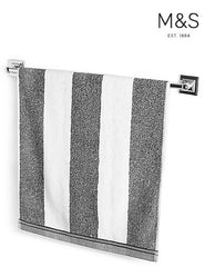 WIDE STRIPED BATH TOWEL | MARKS & SPENCER