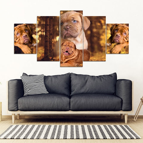 Bordeaux Mastiff Print- Piece Framed Canvas- Free Shipping-Paww-Printz-Merchandise