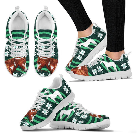 American Paint Horse Print Christmas Running Shoes For Women-Free Shipping-Paww-Printz-Merchandise