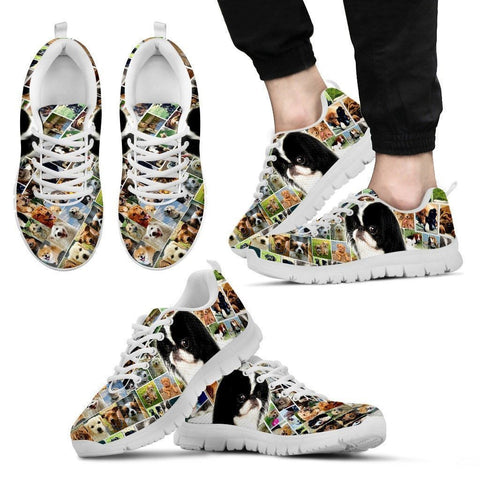 Lovely Japanese Chin Print-Running Shoes For Men-Express Shipping-Paww-Printz-Merchandise