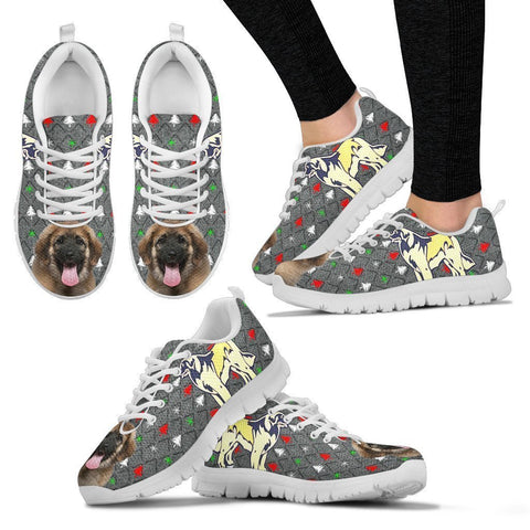 Leonberger Dog Print Christmas Running Shoes For Women-Free Shipping-Paww-Printz-Merchandise