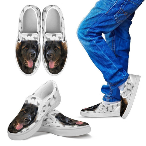 Leonberger Print Slip Ons For Kids- Express Shipping-Paww-Printz-Merchandise