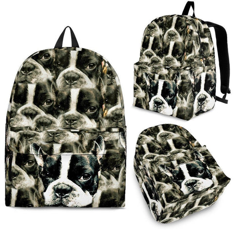 Boston Terrier Print Backpack- Express Shipping-Paww-Printz-Merchandise