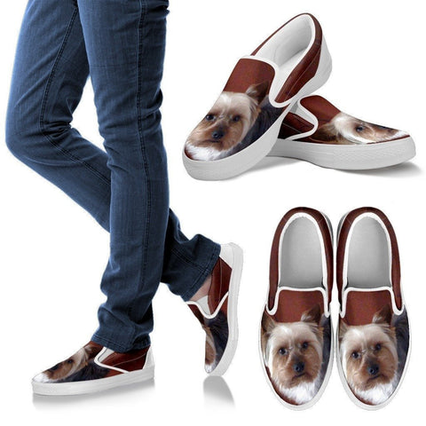 Yorkshire Dog Slip Ons For Women-Free Shipping-Paww-Printz-Merchandise