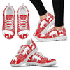 American Yorkshire Pig Print Christmas Running Shoes For Women- Free Shipping-Paww-Printz-Merchandise