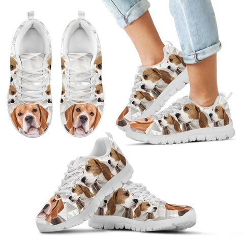 Beagle Print-Kid's Running Shoes-Free Shipping-Paww-Printz-Merchandise