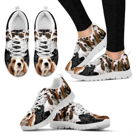 Basset Hound-Dog Running Shoes For Women-Free Shipping-Paww-Printz-Merchandise