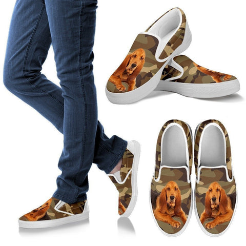 Bloodhound Dog Print Slip Ons For Women-Express Shipping-Paww-Printz-Merchandise