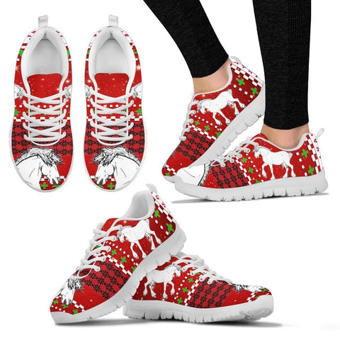 Shire Horse Christmas Running Shoes For Women- Free Shipping-Paww-Printz-Merchandise