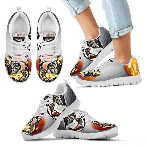 Boston Terrier Halloween Print Running Shoes For Kids- Free Shipping-Paww-Printz-Merchandise