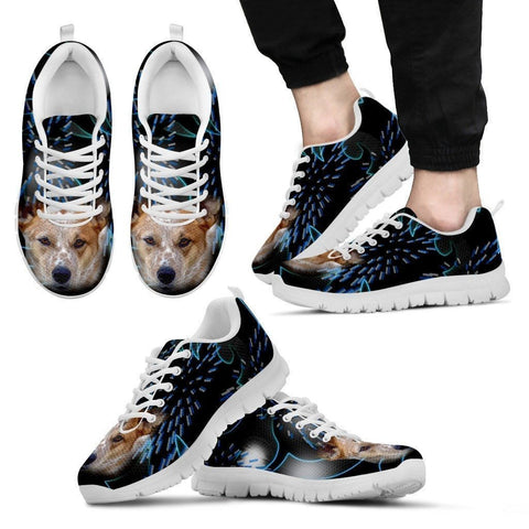 Australian Cattle Dog Print Running Shoe For Men- Free Shipping-Paww-Printz-Merchandise