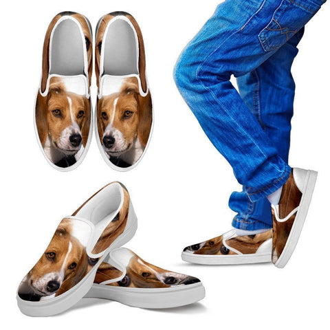American Foxhound Print Slip Ons For Kids- Express Shipping-Paww-Printz-Merchandise