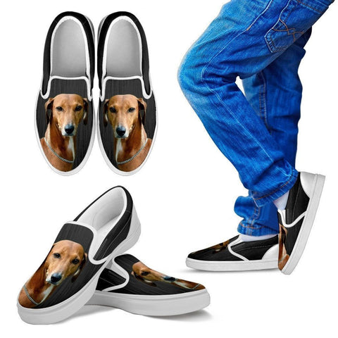 Azawakh Dog Print Slip Ons For Kids-Express Shipping-Paww-Printz-Merchandise