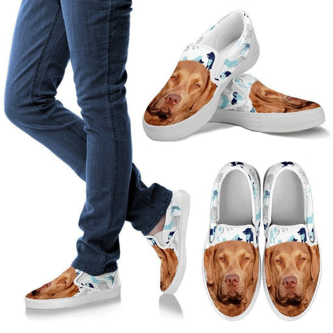Chesapeake Bay Retriever Print Slip Ons For Women- Express Shipping-Paww-Printz-Merchandise
