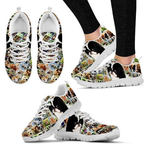 Lovely Japanese Chin Print-Running Shoes For Women-Express Shipping-Paww-Printz-Merchandise