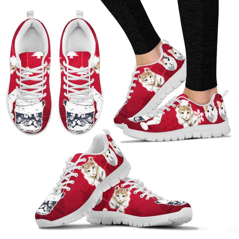 American Curl Christmas Running Shoes For Women- Free Shipping-Paww-Printz-Merchandise