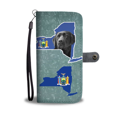 Black Labrador Dog Print Wallet Case-Free Shipping-NY State