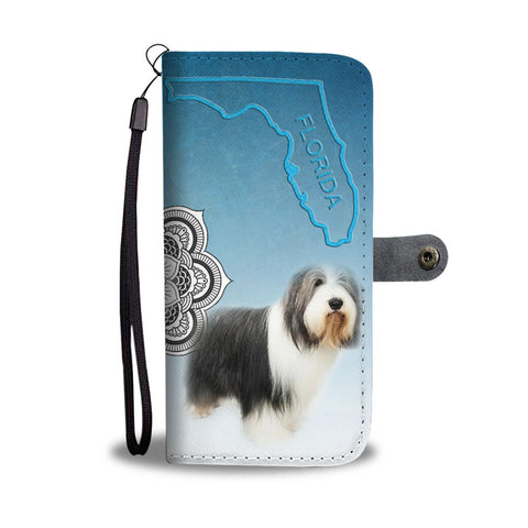 Bearded Collie Print Wallet Case-Free Shipping-FL State
