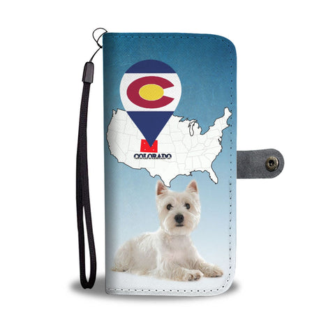 West Highland White Terrier (Westie) Print Wallet Case-Free Shipping-CO State