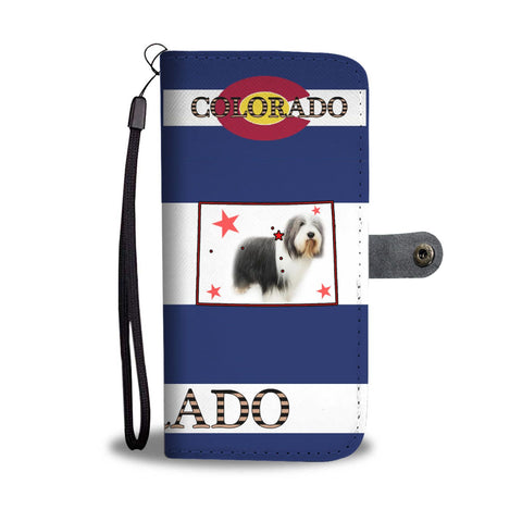 Bearded Collie Print Wallet Case-Free Shipping-CO State