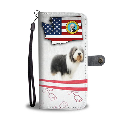 Bearded Collie Print Wallet Case-Free Shipping-WA State
