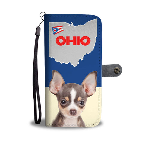 Chihuahua Print Wallet Case-Free Shipping-OH State