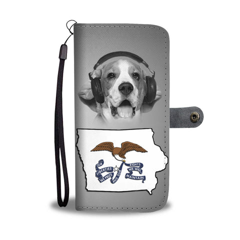 Beagle Dog Print Wallet Case- Free Shipping-IA State