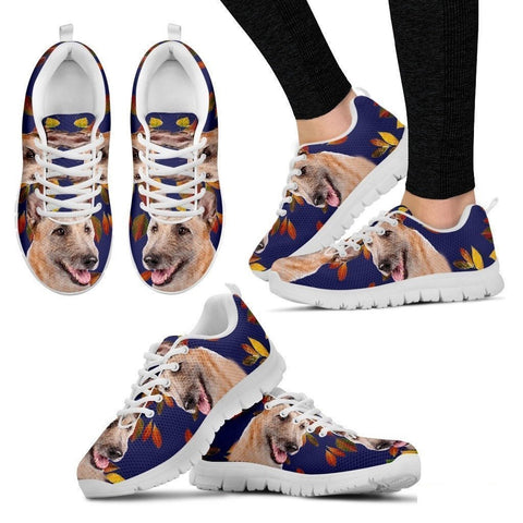 Belgian Laekenois Dog (White/Black) Running Shoes For Women-Free Shipping-Paww-Printz-Merchandise