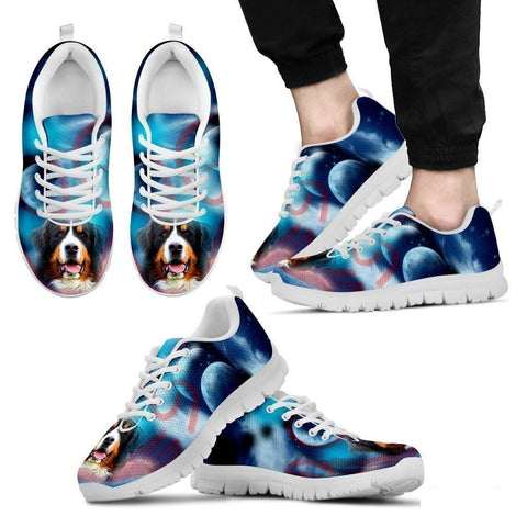 Bernese Mountain Dog Print Running Shoe For Men- Free Shipping-Paww-Printz-Merchandise