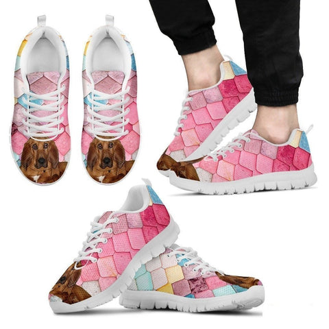 Bloodhound Dog-Running Shoes For Men-Free Shipping-Paww-Printz-Merchandise