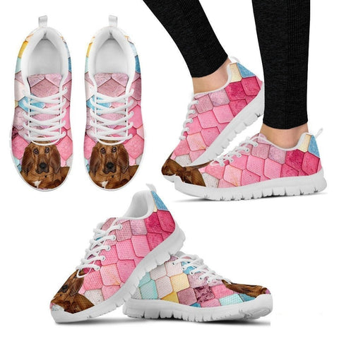 Bloodhound Dog-Running Shoes For Women-Free Shipping-Paww-Printz-Merchandise