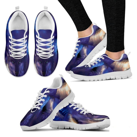 Blue Wolf-Men And Women's Running Shoes-Free Shipping-Paww-Printz-Merchandise