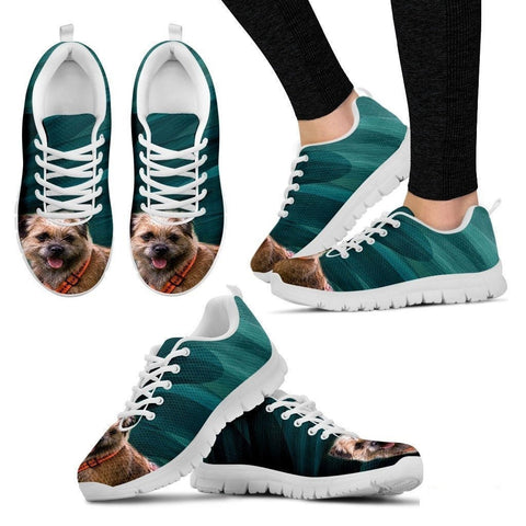 Border Terrier-Dog Running Shoes For Women-Free Shipping-Paww-Printz-Merchandise