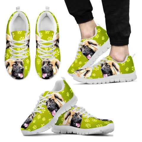 Leonberger Dog Print (Black/White) Running Shoes For Men-Free Shipping Limited Edition-Paww-Printz-Merchandise