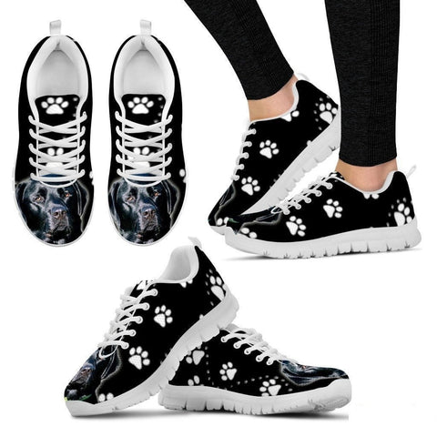 Black Labrador-Dog Running Shoes For Women-Free Shipping-Paww-Printz-Merchandise