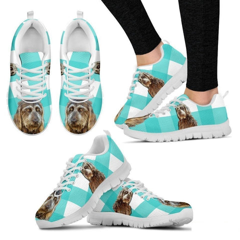 Brown Labradoodle Print Running Shoes For Women(White)- Free Shipping-Paww-Printz-Merchandise