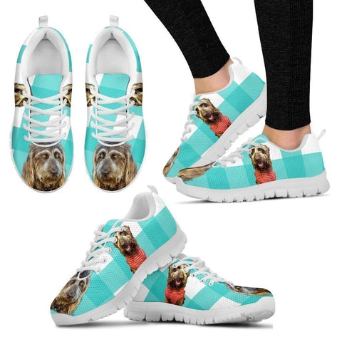 Brown Labradoodle Print Sneakers For Women(White)- Free Shipping-Paww-Printz-Merchandise
