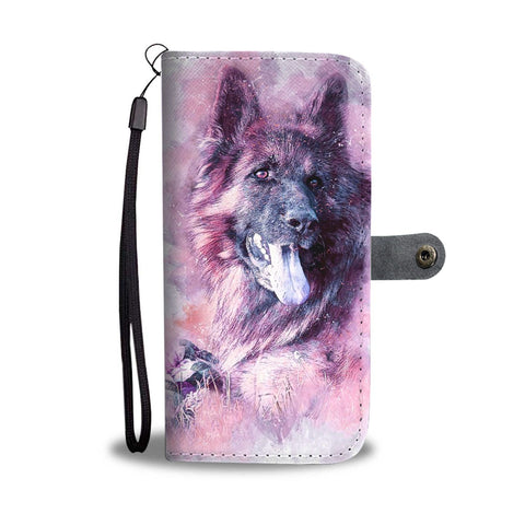 German Shepherd Art Print Wallet Case-Free Shipping