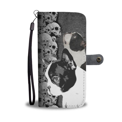 Boston Terrier Print Wallet Case-Free Shipping