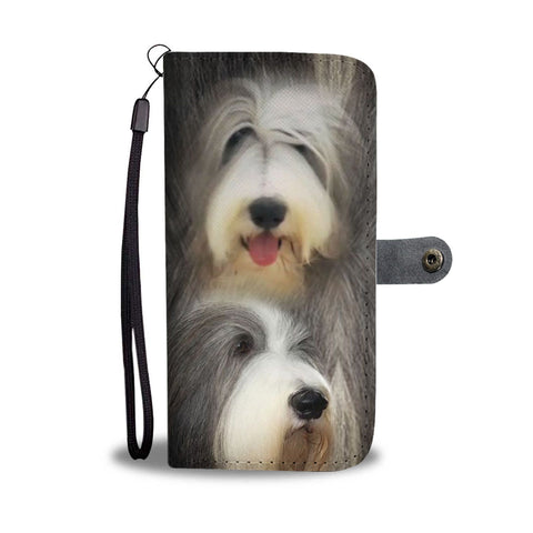 Bearded Collie Dog Print Wallet Case-Free Shipping