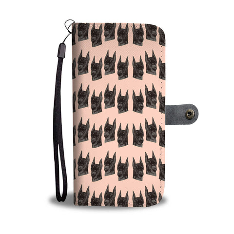 Doberman Pinscher Dog Pattern Print Wallet Case-Free Shipping