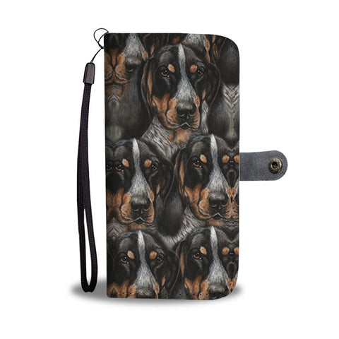 Bluetick Coonhound Dog Print Wallet Case-Free Shipping