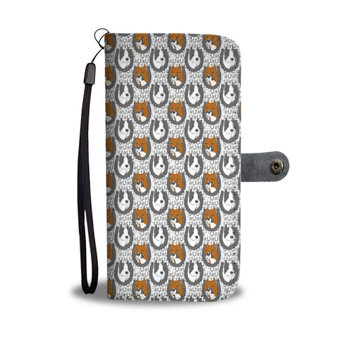 American Staffordshire Terrier Pattern Print Wallet Case-Free Shipping
