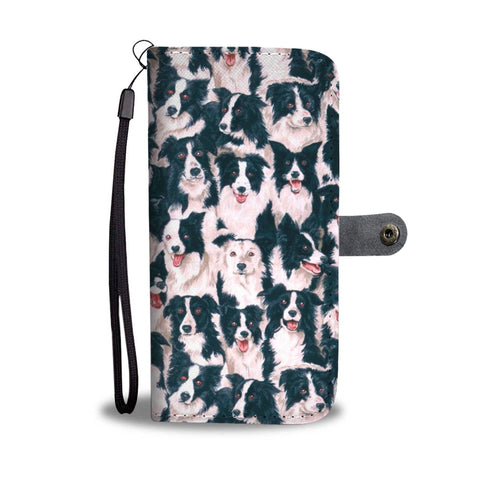 Border Collie Dog Pattern Print Wallet Case-Free Shipping