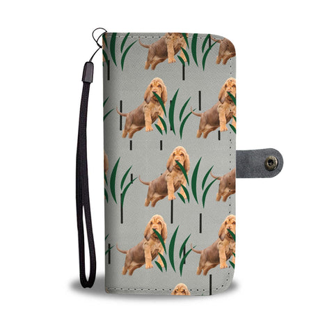 Bloodhound Dog Patterns Print Wallet Case-Free Shipping