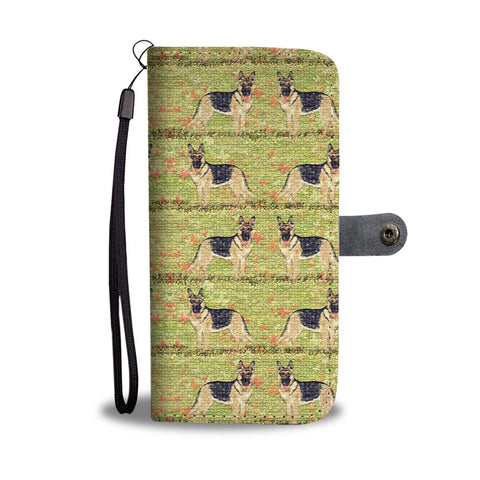 German Shepherd Dog Patterns Print Wallet Case-Free Shipping