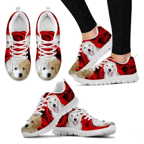White labradoodle Running Shoe For Women- Free Shipping-Paww-Printz-Merchandise